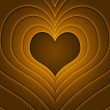 Retro Love Story Gold Background — Foto Stock