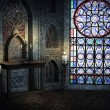 Gothic Room Background - Stock Photo