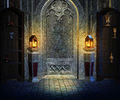 Gothic Interior Background — Stock Photo