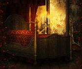 Vintage Room Premade Background — Stock Photo