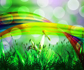 Fresh Abstract Rainbow Background — 图库照片