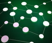 绿色网络背景 — 图库照片