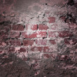 Red Grunge Wall Texture — Stock Photo