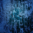 Blue Grunge Wall Texture — Stock Photo