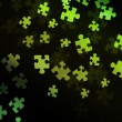 Green Puzzle Background — Stock Photo