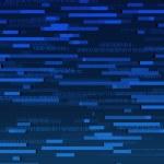 Blue Binary Data Texture — Stock Photo