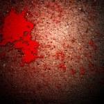 Постер, плакат: Thriller Blood on Grunge Wall