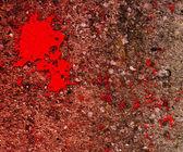 血 grunge 墙纹理 — 图库照片