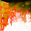 Urban Abstract Orange Background — 图库照片