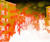 Urban Abstract Orange Background — Photo