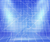 Blueprint Spotlight Abstract Background — Stock Photo