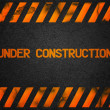 Under Construction Background — 图库照片
