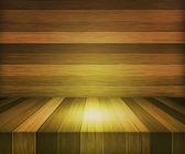 Fondo de etapa de madera amarilla — Foto de Stock