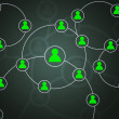Green Social Circles Network Backdrop Image — Stock Photo #27071451