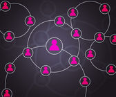 Violet Social Circles Network Backdrop Image — Stock Photo
