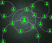 Green Social Circles Network Backdrop Image — Stock Photo