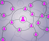 Pink Social Circles Network Backdrop Image — Stock Photo