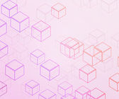 Pink Cubes Background — Stock Photo