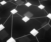 Web Network Image Dark Background — Stock Photo