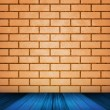 Orange Brick Room Backdrop — Stock Photo