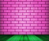 Décor de chambre de briques roses — Photo