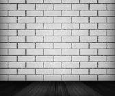 White Brick Room Backdrop — Stock Photo