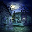 Scary Graveyard Backdrop — Stock Photo