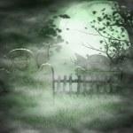 Scary Graveyard Background — Stock Photo