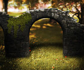 Stone Arch Fantasy Background — Stock Photo