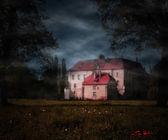 Dark Castle Fantasy Background — Stock Photo