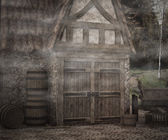 Dark Medieval Photographic Background — Stock Photo