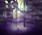 Scary Graveyard Premade Background — Stock Photo