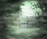 Scary Graveyard Background — ストック写真
