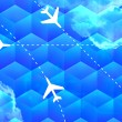 Flight Routes Business Backdrop — Stock Photo