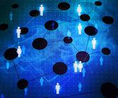 Social Network Corporation Texture — Stock Photo