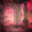 Stock Photo: Pink Palace Interior Background