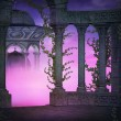 Stok fotoğraf: Violet Ancient Premade Backdrop