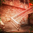 Stock fotografie: Stairs Castle Fantasy Backdrop