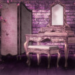 Pink Gothic Interior Background — Stock Photo