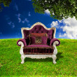 Throne Fantasy Background — Stock Photo