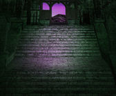 Dark Stairs Background — Stock Photo