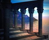 Premade Columns Background — Stock Photo