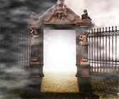Gate Gothic Fantasy Background — Stock Photo