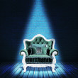 Stock Photo: Blue SofInterior Backdrop