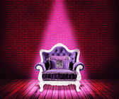 Violet Sofa Room Background — Stock Photo