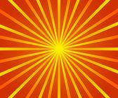 Orange Retro Sun Rays Backdrop — Stock Photo