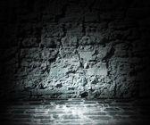 Dark Stone Room Background — Stock Photo