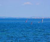 Windsurfers Water Texture — Stock Photo
