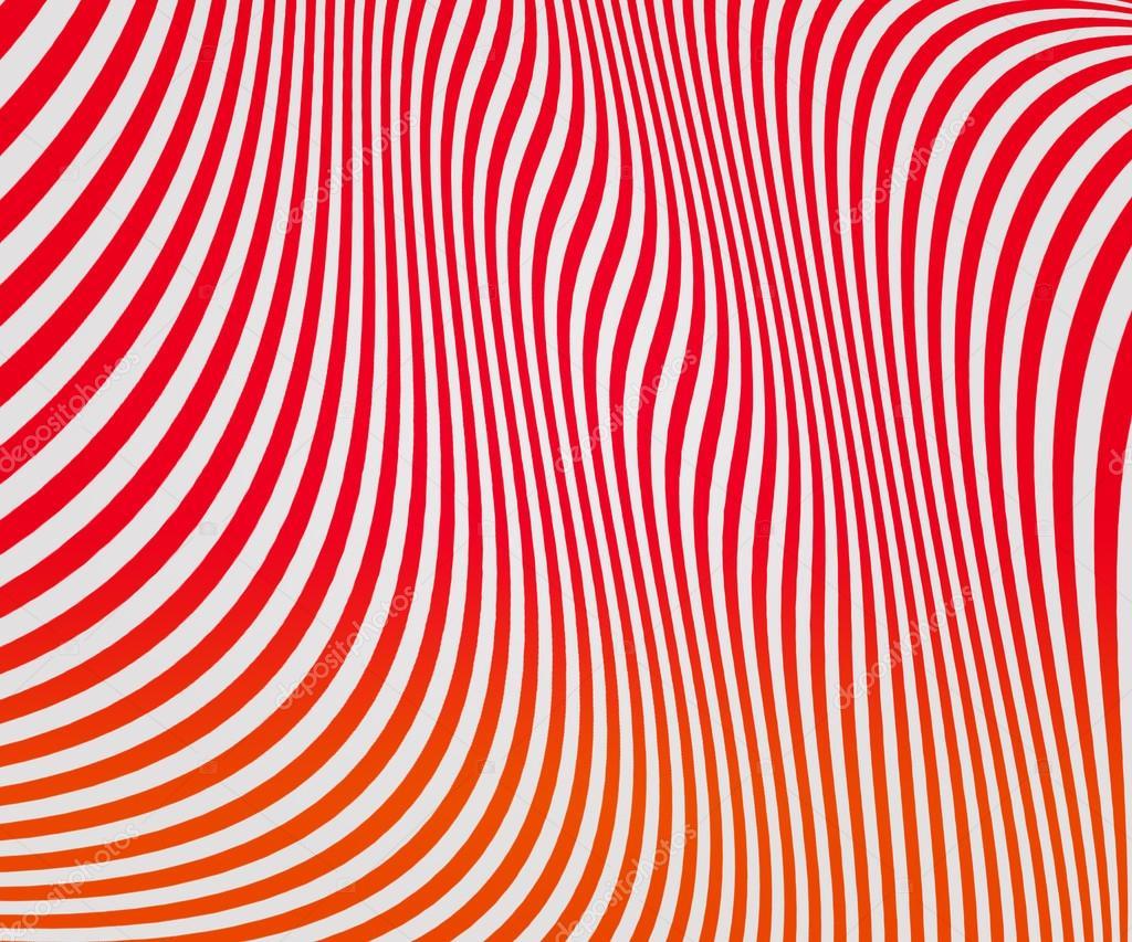 红色的波浪形条纹纹理