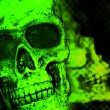 Green Skull Scary Background — Foto de Stock